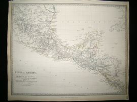 Central America, Belize, Guatemala, Honduras, Mexico, etc 1842 Map. SDUK